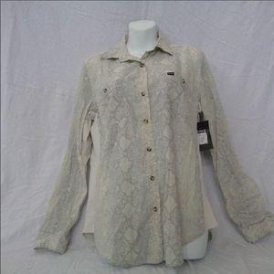 NWT Hurley Wilson Button Up Shirt Snakeskin